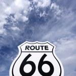 Nostalgic route 66 sign — Stock Photo
