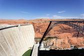 Glen Dam and bridge — Стоковое фото