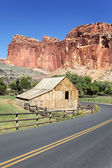 Capitol Reef road — Stock Photo