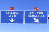 Autoroute direction — Foto Stock