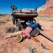 Dead cowgirl - Stock Photo