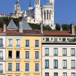 Famous Fourviere basilica and building — Stock Photo