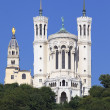 Lyon basilica in blue sky — Stock Photo