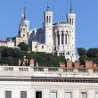 Famous Fourviere basilica — Stock Photo