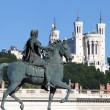 Famous statue of Louis XIV, Lyon — Stock Photo #15726739