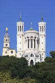 Lyon basilica in blue sky — Stock Photo