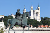 Famous statue of Louis XIV, Lyon — Stock Photo