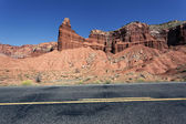 Red rock road — Stock Photo