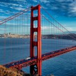 Foto Stock: Panoramic view of famous Golden Gate Bridge
