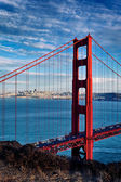 Vertical view of Golden Gate Bridge — Stock Photo