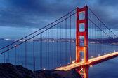 Night scene with famous Golden Gate Bridge — Stock Photo