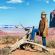 Monument Valley cowgirl — Stock Photo