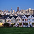 Alamo Square at twilight — Stockfoto