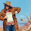 Bad cowgirl wanted — Stock Photo