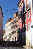 Famous street in Lisbon — Stock Photo