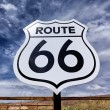 Nostalgic route 66 sign — Stock Photo