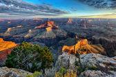 Vista horizontal del gran cañón — Foto de Stock