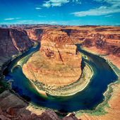 Horse shoe bend square — 图库照片