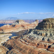 Vertical view of the lake Powell, — Stock Photo