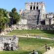 Vertical view of Tulum ruins — Stock Photo