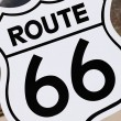 Route 66 sign, USA — Stock Photo