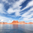 Vertical view of the lake Powell — Stockfoto