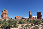 Famous Red rocks panorama — Stock Photo