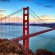 Foto Stock: Horizontal view of Golden Gate Bridge