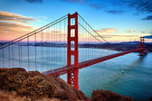 Horizontal view of Golden Gate Bridge — Stock Photo