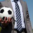 Foto Stock: Ball in hand