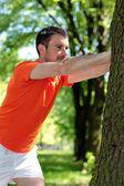 Man doing sport — Stock Photo