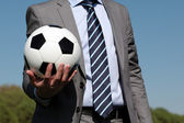 Ball in der hand — Stockfoto