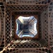 View of the Eiffel Tower from below — Stock Photo #18503169