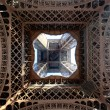 View of the Eiffel Tower from below - Stock Photo
