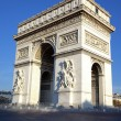 Vertical view of famous Arc de Triomphe — Stock Photo
