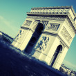 View of Arc de Triomphe - Stock Photo