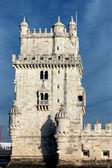 Berömda belem tower i kväll — Stockfoto