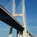 Part of the Vasco da Gama bridge — Stock Photo