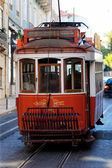 Typical red Tram — Stock Photo
