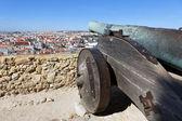 Famous cannon of Saint George Castle — Stock Photo