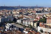 Célèbre vue de lisbonne — Photo
