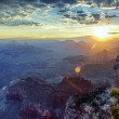 Panoramic view of Grand Canyon at sunrise — Foto Stock