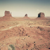 View of famous landscape of Monument Valley — Stock Photo