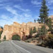 Vertical view of Road to Bryce Canyon - Stock Photo