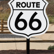Nostalgic route 66 sign - Stock Photo