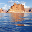 Vertical view on the Lake Powell — Stockfoto