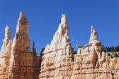 Horizontal view of Hoodoo rocks — Stock Photo