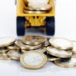 Coins and truck — Stock Photo #19515733