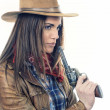 Attractive cowgirl — Stock Photo #19521759