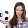 Young adult woman with ball — Stock Photo #19572987